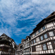 Fantasy style houses in Strasbourg, Alsace, France - Stock Photo