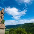 Statue guarding Hohenzollern Castle — Stock Photo #25834323
