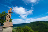 Statue guarding Hohenzollern Castle — Stock Photo