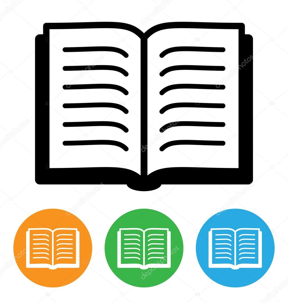 Open Book Icon Open Book Icon Isolated on