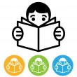 Reading icon — Stock Vector #12523431