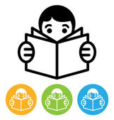 Reading icon — Stock Vector