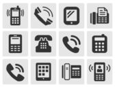 Phone icons — Stok Vektör