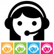 Call center icon - Imagen vectorial