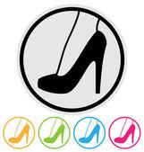 High heel shoe icon — Stock Vector
