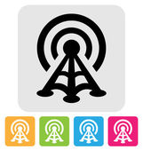 Radio tower icon — Stock Vector