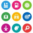 Stock Vector: Color environmental icons