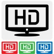 Stock Vector: HDTV icon