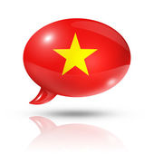 Vietnamese flag speech bubble — Stock Photo