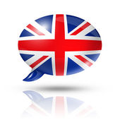 British flag speech bubble — Stockfoto