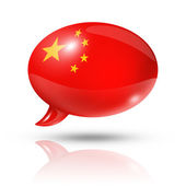 Chinese flag speech bubble — Stockfoto