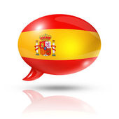 Spanish flag speech bubble — Stockfoto
