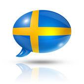 Schwedische flagge sprechblase — Stockfoto