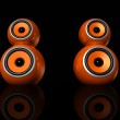 Orange speaker balls — Stock Photo #2105980