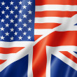 United States and British flag — Stock Photo