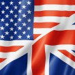 Stock Photo: United States and British flag