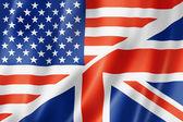 United States and British flag — Stock Photo