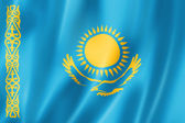 Kazakhstan flag — Stock Photo