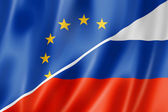 Europe and Russia flag — Stock Photo
