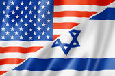 USA and Israel flag — Stock Photo