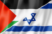 Palestine and Israel flag — Stock Photo
