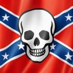Confederate death flag — Stock Photo
