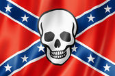 Confederate death flag — Stock Photo
