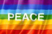 Rainbow peace flag — Stock Photo