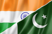 India and Pakistan flag — Stock Photo