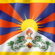 Tibetan flag — Stock Photo