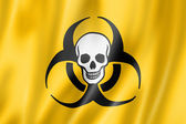 Biohazard death flag — Stock Photo