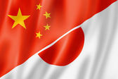 China and Japan flag — Stockfoto