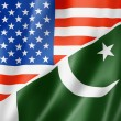Stock Photo: USA and Pakistan flag