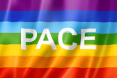 Rainbow peace flag — Stock Photo