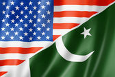 USA and Pakistan flag — Stock Photo