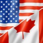 USA and Canada flag — Stock Photo #24979681