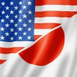 USA and Japan flag - Foto de Stock