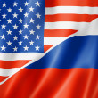 USA and Russia flag — Stock Photo