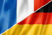 France and Germany flag — Stock Photo