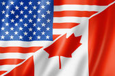 USA and Canada flag — Stock Photo