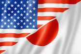 USA and Japan flag — Stock Photo
