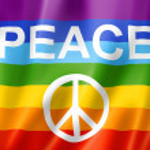 Rainbow peace flag — Stock Photo #25059563
