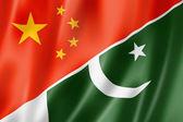 China and Pakistan flag — Stock Photo