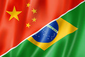 China and Brazil flag — Stock Photo