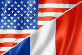 USA and France flag — Stock Photo
