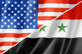 USA and Syria flag — Stock Photo