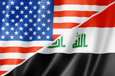 USA and Iraq flag — Stock Photo