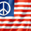Stock Photo: United States peace flag