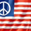 United States peace flag — Stock Photo