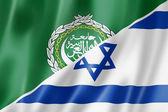 Arab League and Israel flag — Stock Photo